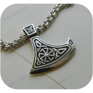 Кулон из серебра «Большая Секира Перуна»