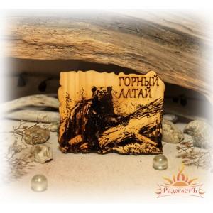 Магнит-сувенир «Горный Алтай» с медведем 2