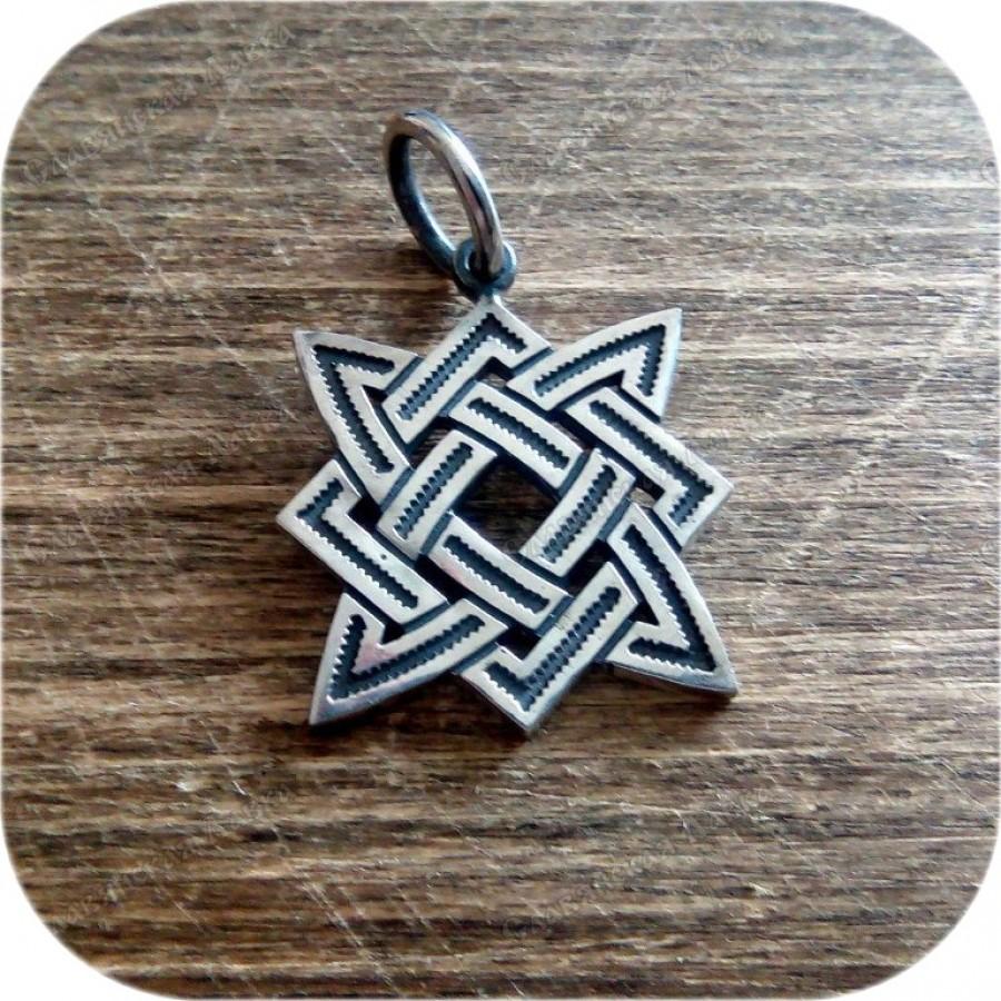 Кулон из серебра «Звезда Руси»