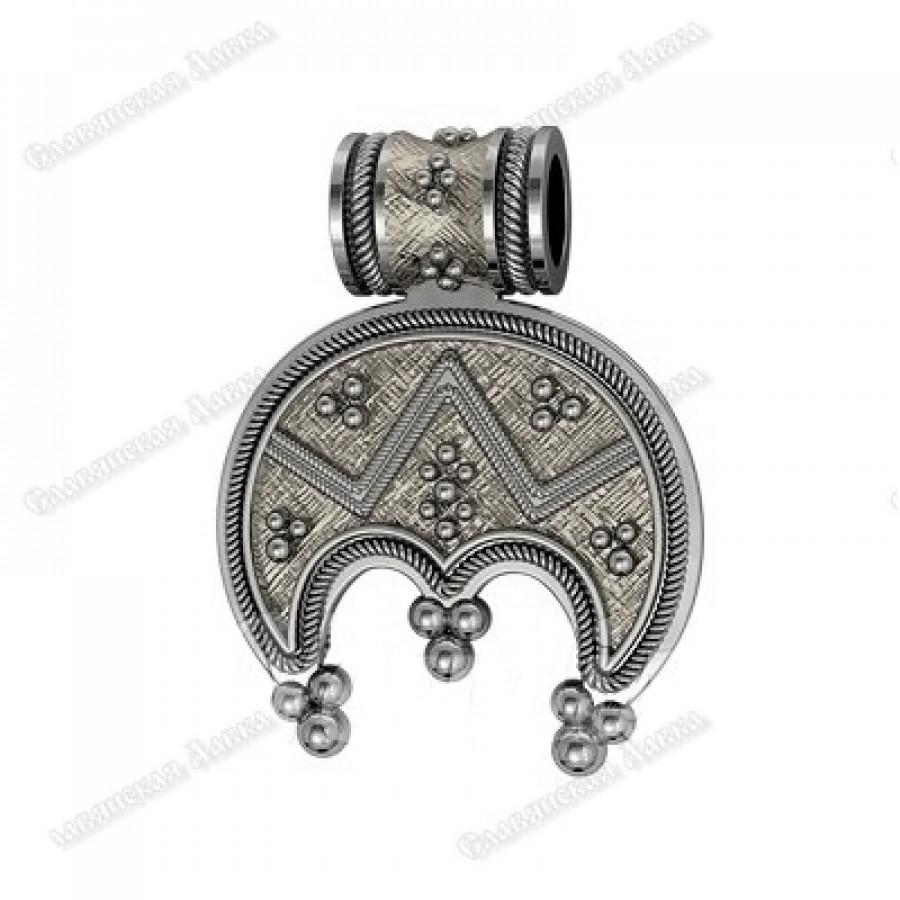 Кулон из серебра женский «Лунница»