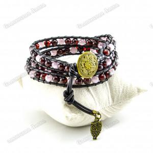 Янтарный браслет «Цветок Мирового Древа» тройной