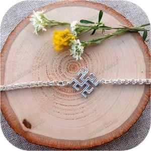 Серебряный браслет «Цветок Папоротника/Одолень-Трава»