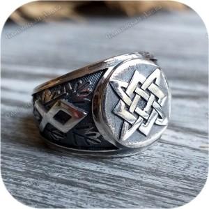 Серебряный перстень «Звезда Руси»