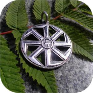 Большой серебряный кулон «Коловрат Перуна»
