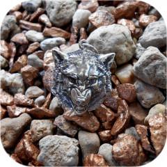 Серебряный кулон «Волчья голова»