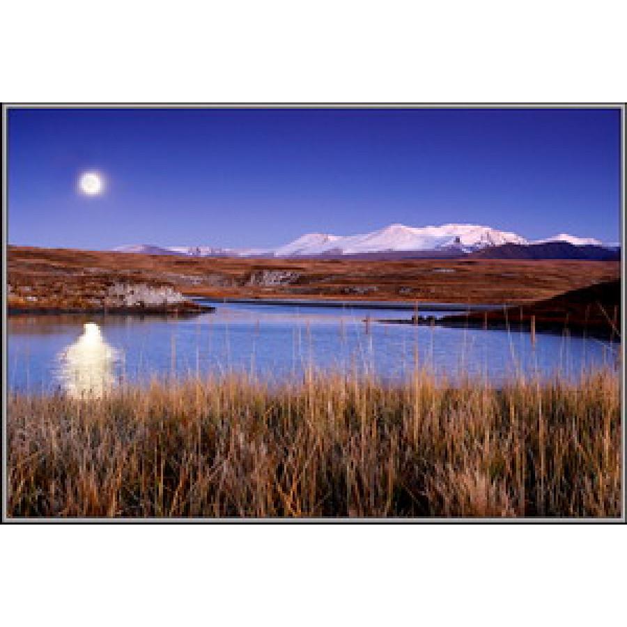 Луна над озером Ак-Алахе