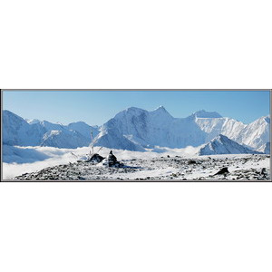 Вид на Белуху с перевала Каратюрек. Алтай.