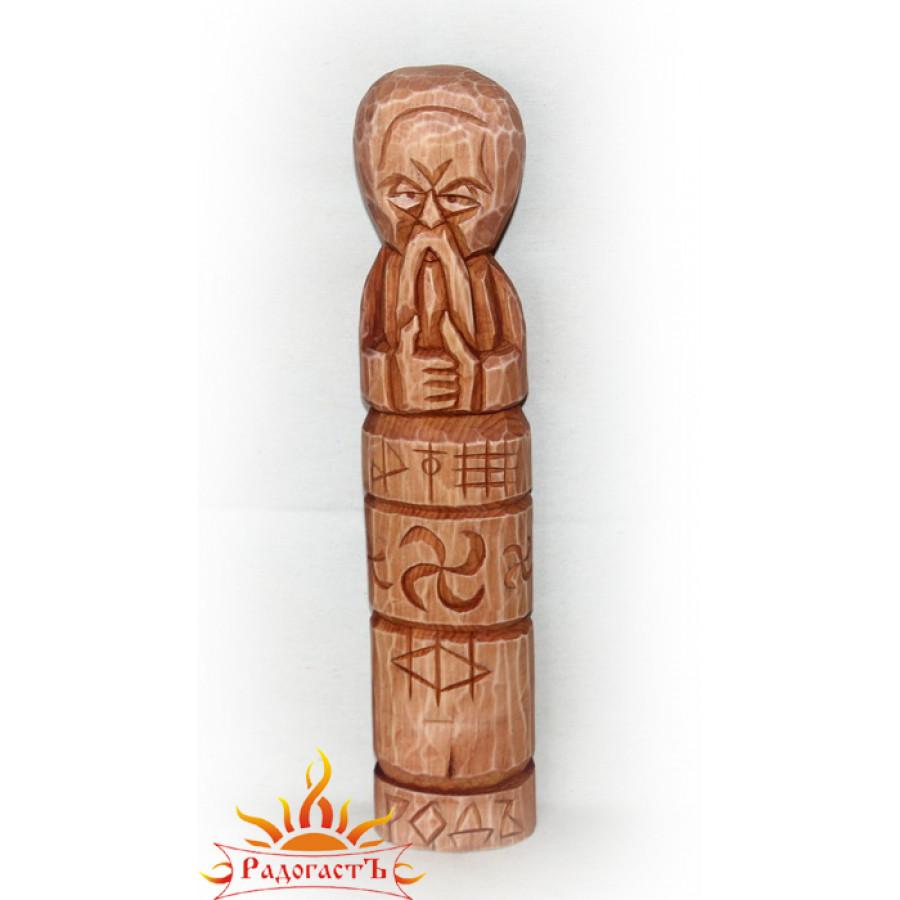Большой идол Рода (реконструкция сгоревшей омской капи)