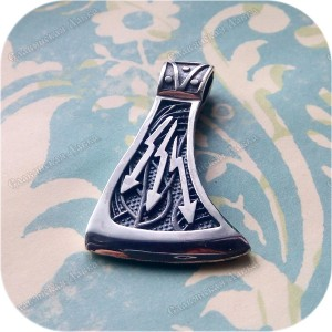 Кулон из серебра «Секира Перуна-Громовержца»