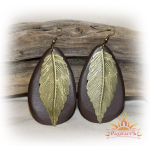 Серьги «Листья»