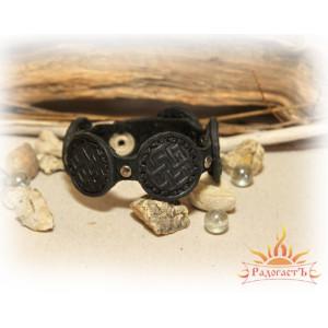 Кожаный браслет «Цветок папоротника»