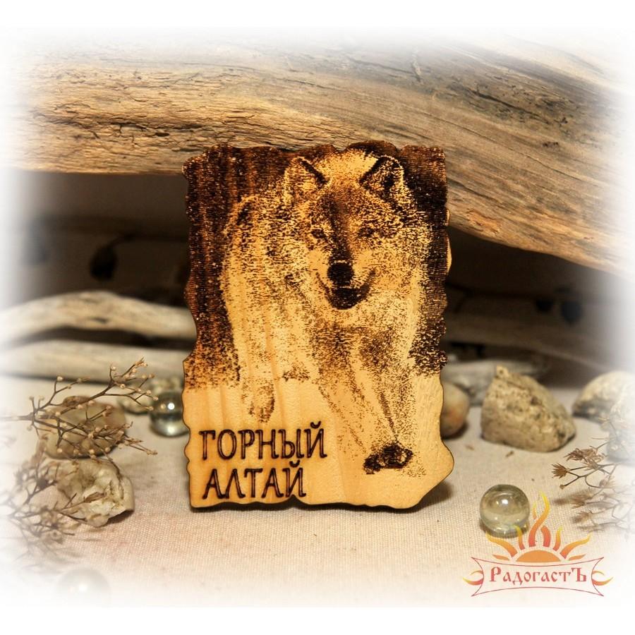 Магнит-сувенир «Горный Алтай» с волком