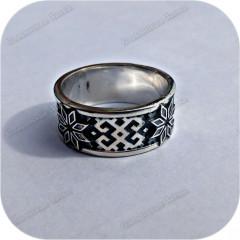 Серебряное кольцо «Алатырь» (остаток, размер 20)
