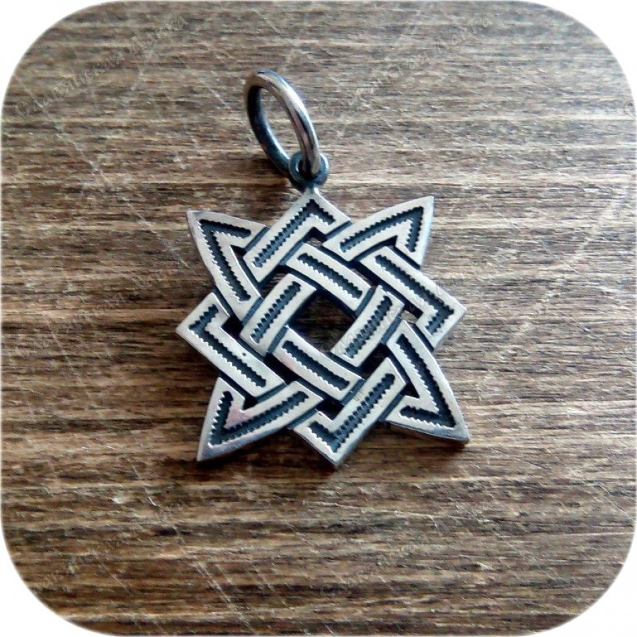 Кулон из серебра «Звезда Руси» (3.5)