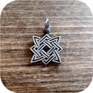 Серебряный кулон «Квадрат Сварога» малый (2.5)