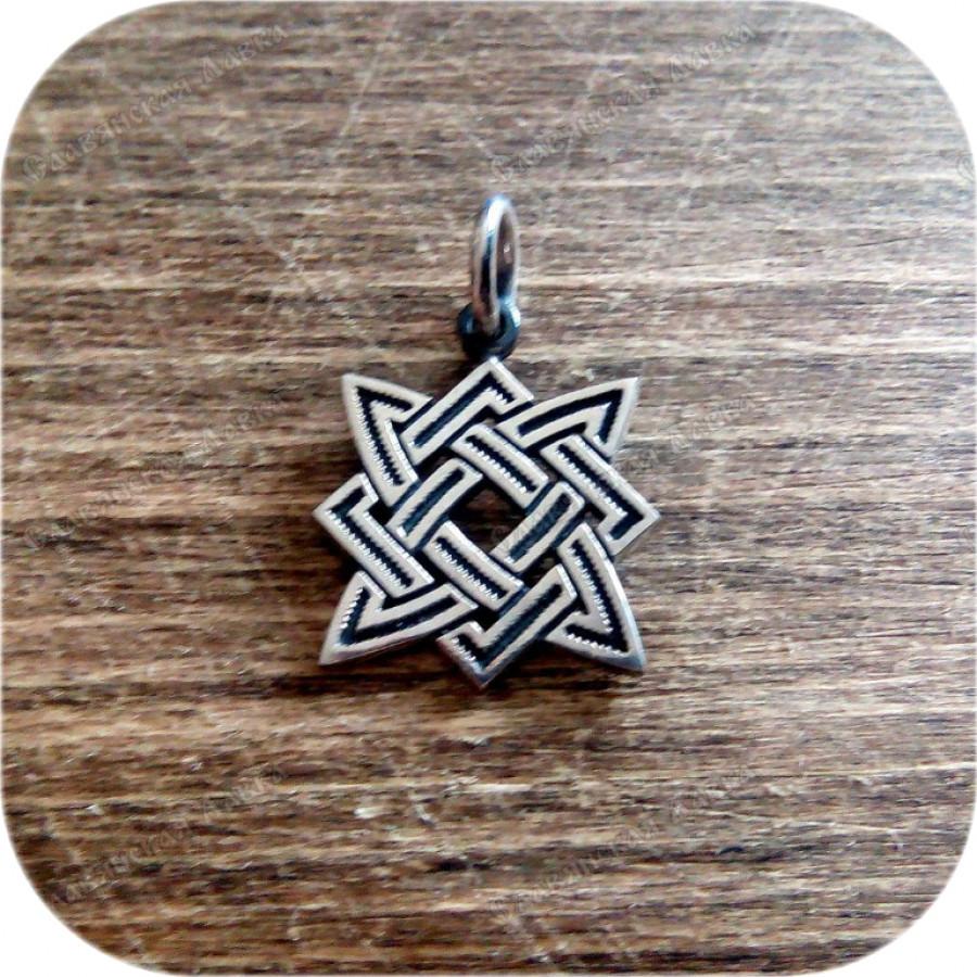 Серебряный кулон «Квадрат Сварога» (2.5) малый