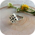 Серебряное кольцо «Засеянное Поле»