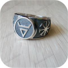 Серебряный перстень «Велес» (остаток, размер 22)