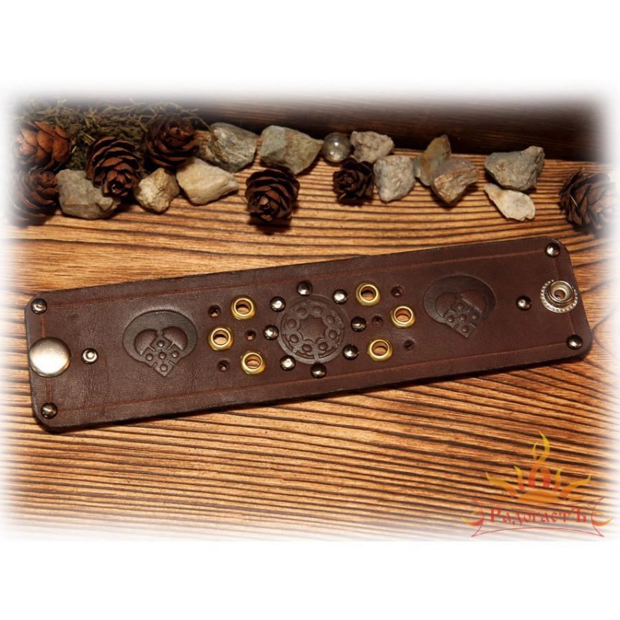 Кожаный браслет «Плоды Макоши»