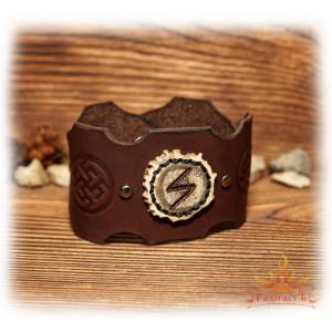 Кожаный браслет «Сила Лося»