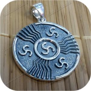 Кулон из серебра «Печать Перуна»
