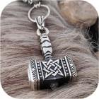 Богатырский серебряный оберег «Молот Сварога»