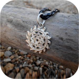 Кулон из серебра женский «Ярилова Звезда Лады»