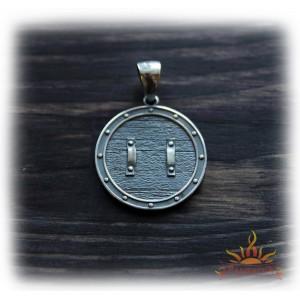 Кулон из серебра «Малый Щит» (Крест Сварога)