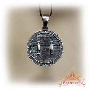 Кулон из серебра «Малый Щит» (Яроврат)