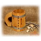 Кружка с металлическими ободами «Рунная»