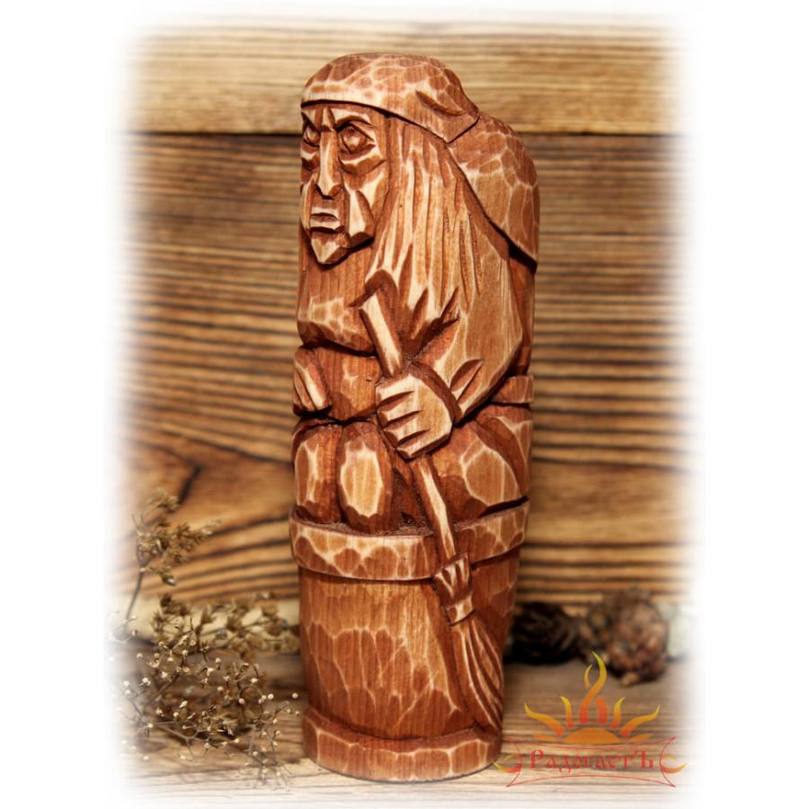 Скульптура Бабы Яги в ступе