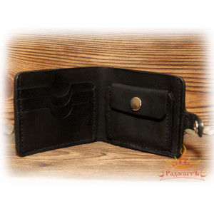 Кожаное портмоне с руной