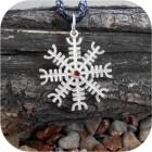 Серебряный кулон «Агисхьяльм» с камнем
