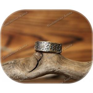 Серебряное кольцо «Алатырь»