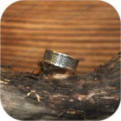 Серебряное кольцо «Цветок Папоротника» (по акции, размер 20)
