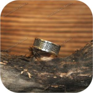Серебряное кольцо «Цветок Папоротника»