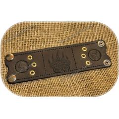 Кожаный браслет «Печать Велеса»