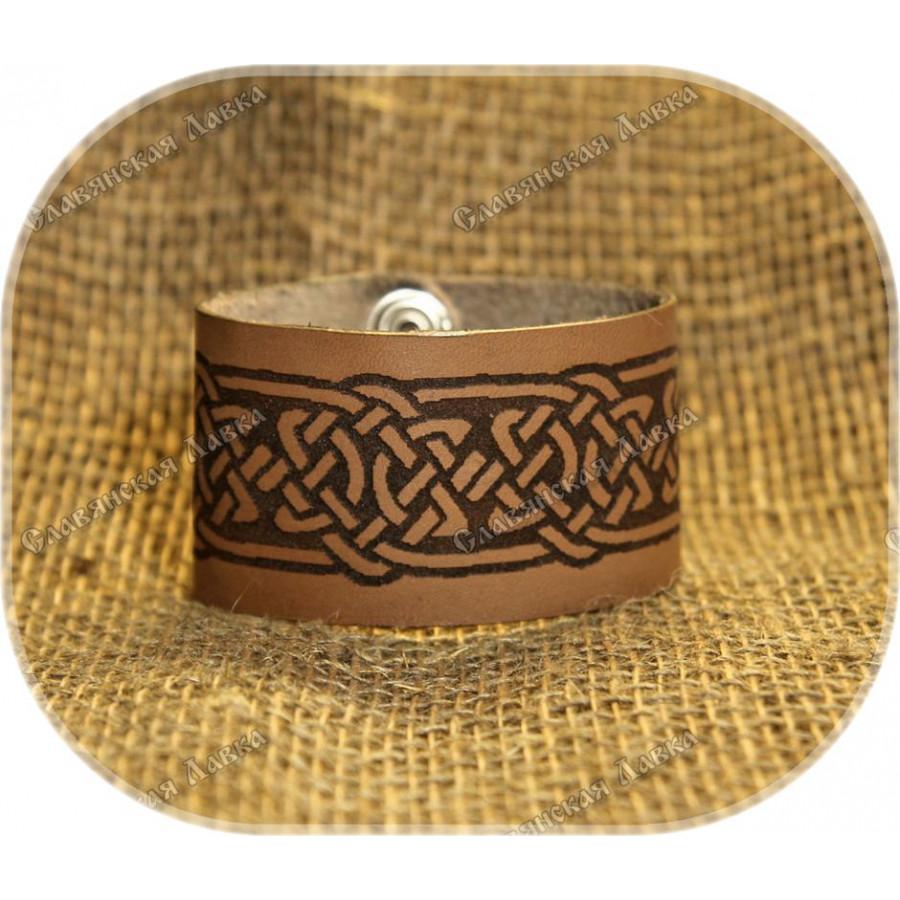 Кожаный браслет «Узор Асов»