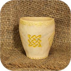 Стакан с символом «Звезда Руси» (керамика)