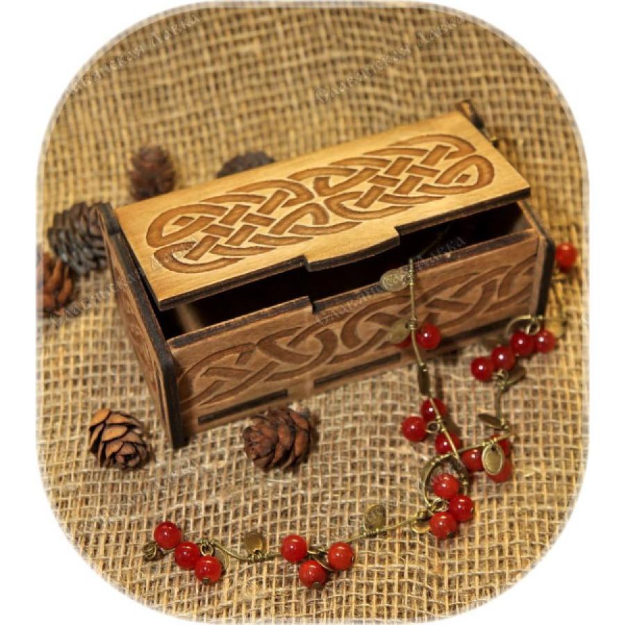Берёзовая шкатулка «Кельтский узор»