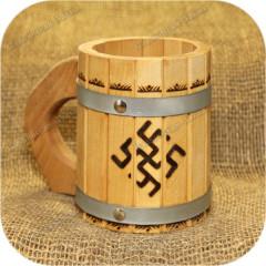 Кружка с металлическими ободами «Папоротник»