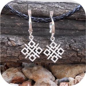 Серьги серебряные «Макошь» (застежка/швензы)