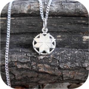 Оберег серебряный малый «Крест Сварога»