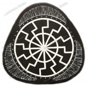 Треугольный славянский бубен «Чёрное солнце»