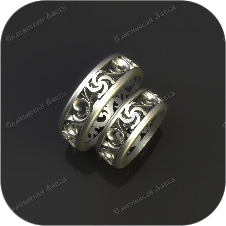 Серебряное кольцо «Род»