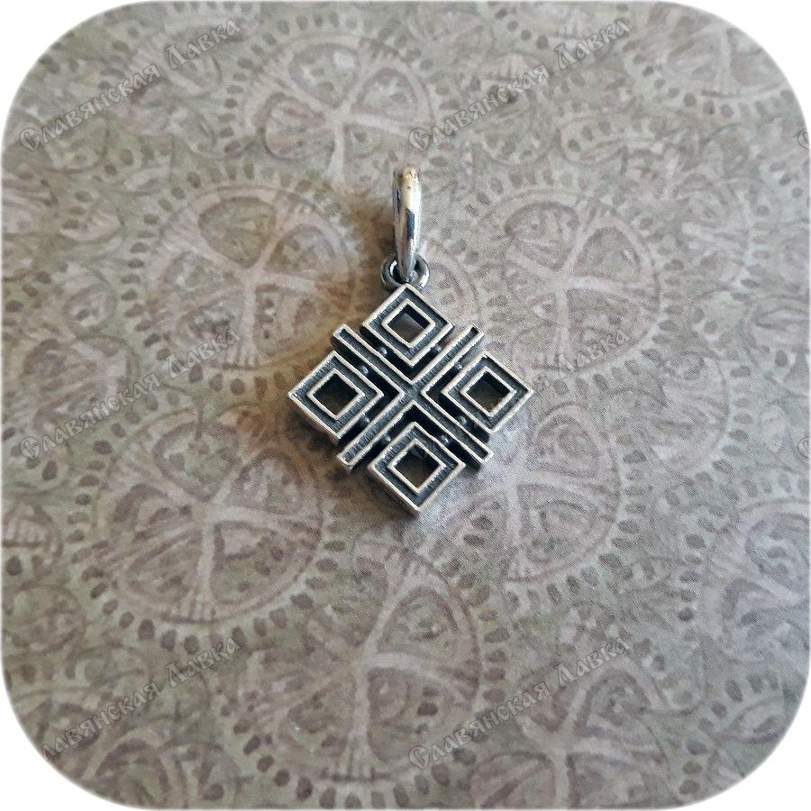 Кулон из серебра женский «Макошь»