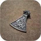 Двусторонний кулон из серебра «Боевая Секира»