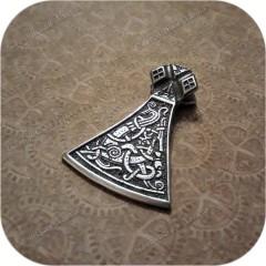 Кулон из серебра «Боевая Секира» двусторонний