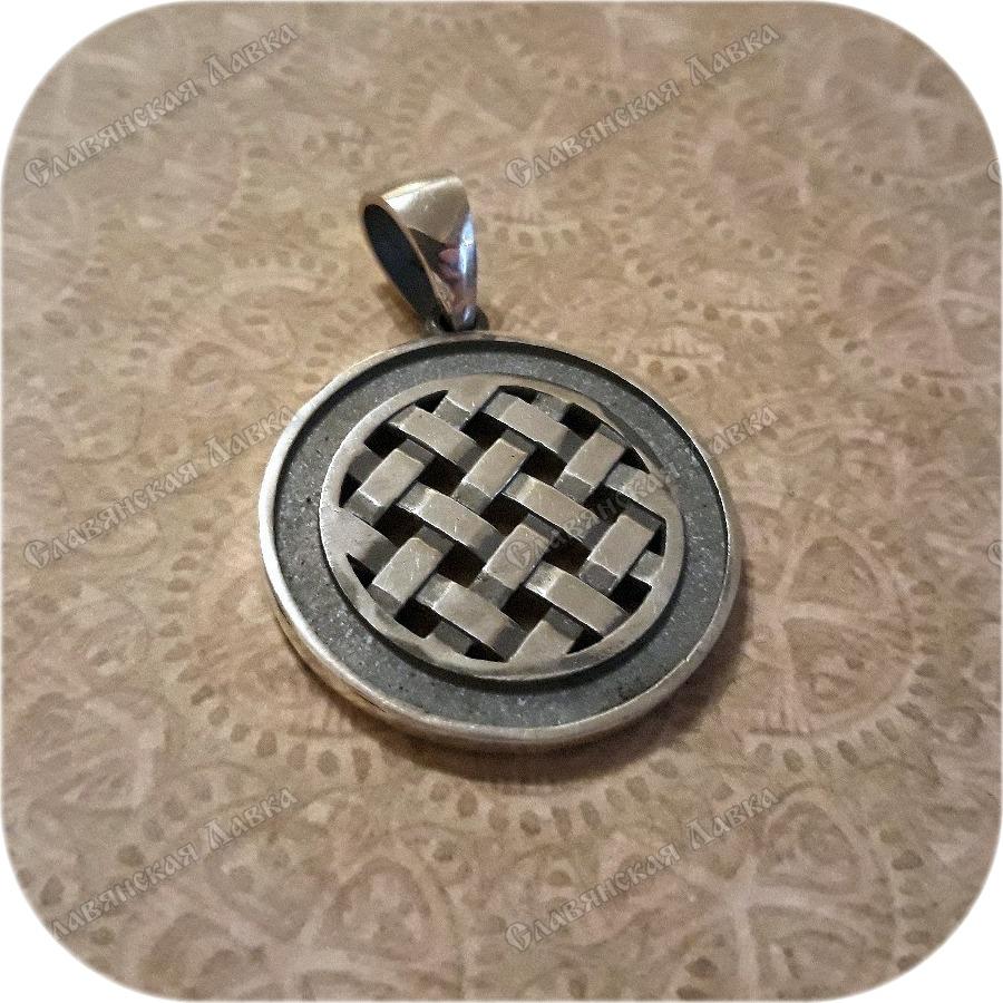 Кулон из серебра «Засеянное поле»
