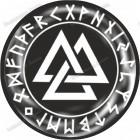 Скандинавская наклейка «Валькнут, время футарка»